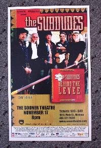 THE SUBDUDES rare promotional Concert poster collectible