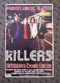 THE KILLERS rare promotional concert poster collectible