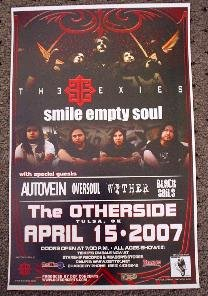 THE EXIES smile empty soul Autovein CONCERT POSTER collectible