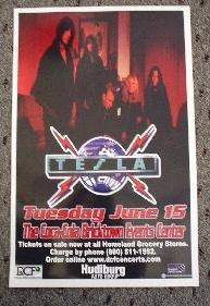 TESLA rare live concert poster collectible
