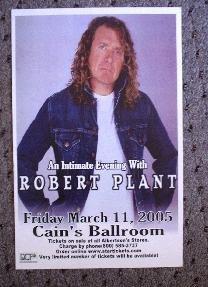 ROBERT PLANT rare Concert tour poster promotional collectible