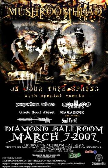 MUSHROOMHEAD psyclon nine Soul Crisis Concert poster collectible