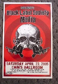 BLACK LABEL SOCIETY zakk wylde Concert poster Collectible