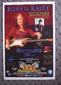 BONNIE RAITT keb' mo' promotional Concert Tour poster Collectible