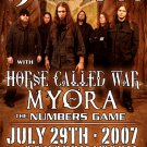 DAATH horse called war Myora Concert tour poster Collectible