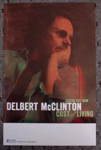 DELBERT McCLINTON promotional poster cost of living collectible