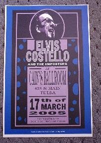 ELVIS COSTELLO  promotional concert poster collectible