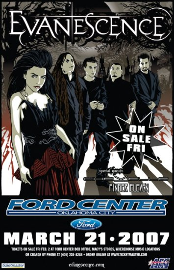 EVANESCENCE finger eleven Chevelle CONCERT poster collectible