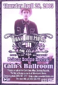 HANK WILLIAMS III rare CONCERT poster promotional collectible