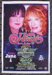 HEART rare promotional CONCERT poster 38 SPECIAL collectible