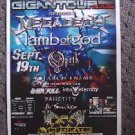 MEGADETH lamb of god Opeth Concert poster promotional collectible