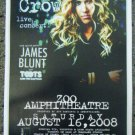 SHERYL CROW and JAMES BLUNT with TOOTS Concert poster promotional collectible