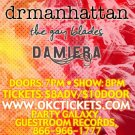 """Dr Manhattan with The Gay Blades and Damiera 11"""" x 17"""" Concert Poster"""
