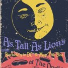 """As Tall As Lions with Berkeley to DC & Map the Sea 11"""" x 17"""" Concert Poster"""