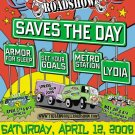"Saves the Day with Armor For Sleep & Set Your Goals & Lydia 11"" x 17"" Concert Poster"