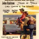 "Limbeck with John Ralston & House of Fools & Cody Clinton and the Bishops 11"" x 17"" Concert Poster"