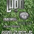 "Ludo with Effects & Farewell & Versai & Arbor Chase 11"" x 17"" Concert Poster"
