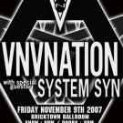 "VNV Nation with System SYN 11"" x 17"" Concert Poster"
