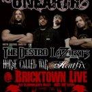 """Unearth with The Destro & Lazarus A.D. & HeatFix 11"""" x 17"""" Concert Poster"""
