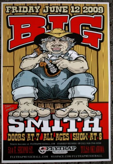 """Big Smith promotional Thom Self 13"""" x 19"""" Concert Poster"""