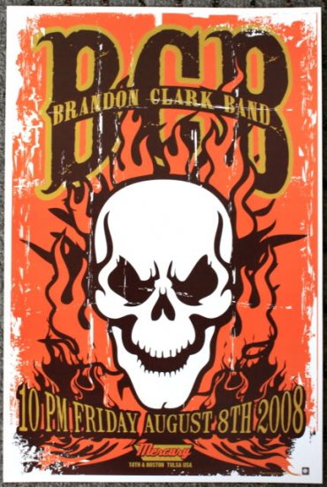 "Brandon Clark Band promotional Thom Self 13"" x 19"" Concert Poster"