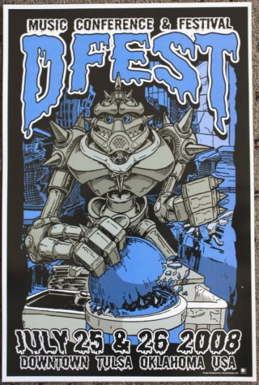 """DFest promotional Thom Self 12"""" x 18"""" Concert Poster"""