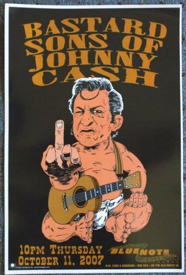 "Bastard Sons of Johnny Cash promotional Thom Self 13"" x 19"" Concert Poster"