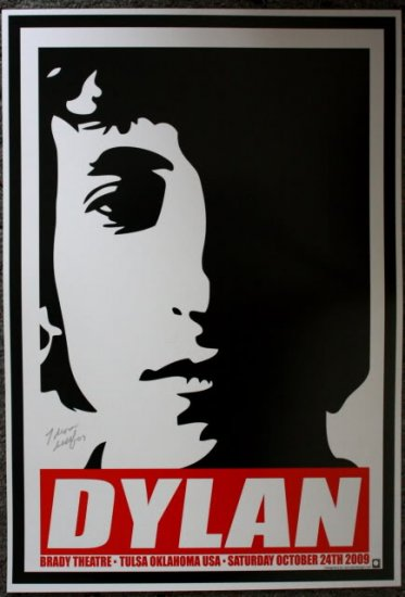 "Bob Dylan promotional Thom Self 13"" x 19"" Concert Poster"