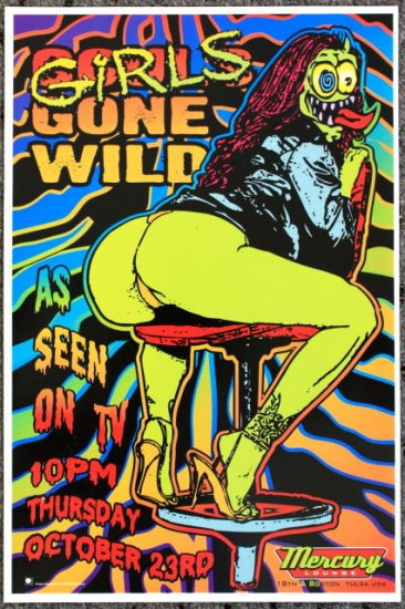 """Girls Gone Wild promotional Thom Self 13"""" x 19"""" Concert Poster"""