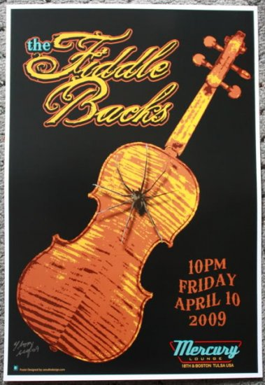 "The Fiddlebacks promotional Thom Self 13"" x 19"" Concert Poster"