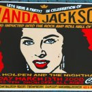 "Wanda Jackson with Bill Holden promotional Thom Self 13"" x 19"" Concert Poster"