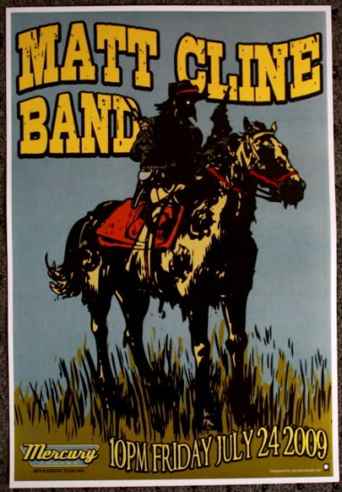 "Matt Cline Band promotional Thom Self 13"" x 19"" Concert Poster"