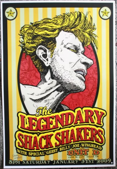 "Legendary Shack Shakers with Billy Joe Winghead Thom Self 13"" x 19"" Concert Poster"