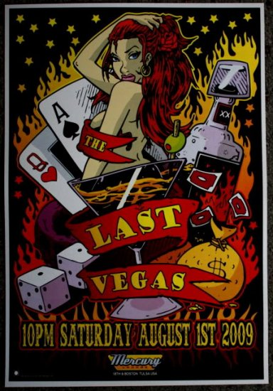 "Last Vegas promotional Thom Self 13"" x 19"" Concert Poster"