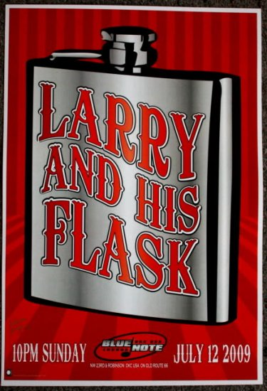"""Larry and His Flask promotional Thom Self 13"""" x 19"""" Concert Poster"""