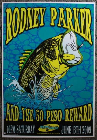 "Rodney Parker & The 50 Peso Reward promotional Thom Self 13"" x 19"" Concert Poster"