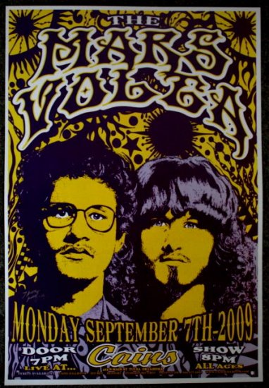 """The Mars Volta promotional Thom Self 13"""" x 19"""" Concert Poster"""