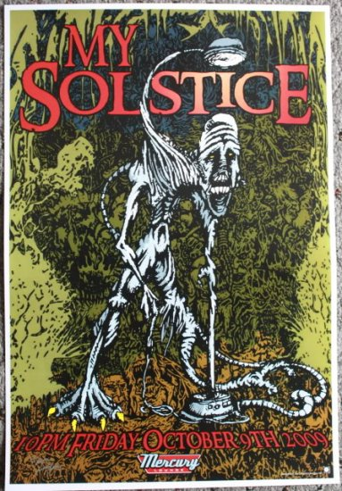 """My Solstice promotional Thom Self 13"""" x 19"""" Concert Poster"""