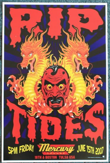 """Rip Tides promotional Thom Self 12"""" x 18"""" Concert Poster"""
