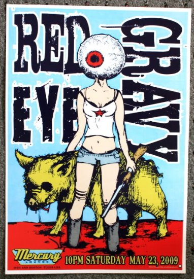 """Red Eye Gravy promotional Thom Self 13"""" x 19"""" Concert Poster"""