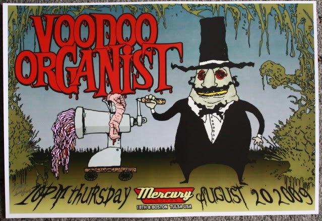 "Voodoo Organist promotional Thom Self 19"" x 13"" Concert Poster"