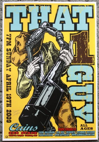 """That 1 Guy promotional Thom Self 13"""" x 19"""" Concert Poster"""
