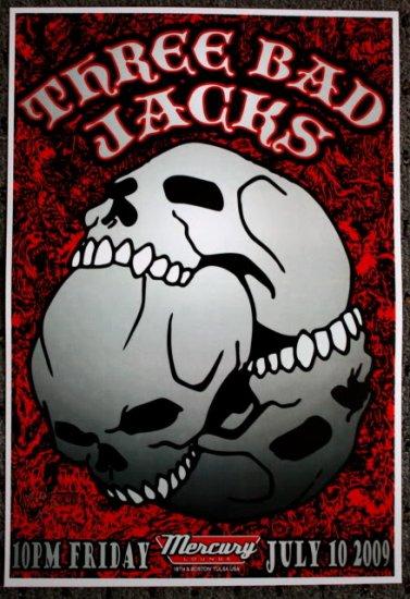 "Three Bad Jacks promotional Thom Self 13"" x 19"" Concert Poster"