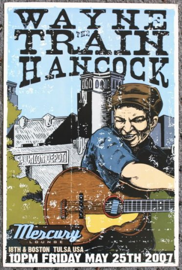 "Wayne The Train Hancock promotional Thom Self 13"" x 19"" Concert Poster"