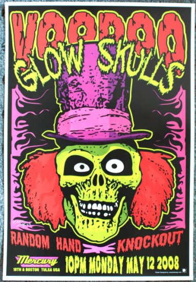 """Voodoo Glow Skulls with Random Hand & Knockout Thom Self 13"""" x 19"""" Concert Poster"""