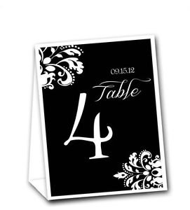 Corner Motif Ready to Use Table Tent Event Numbers 1-20