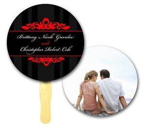 Circle Designer, Wedding Program, Hand Fans Outdoors Event, Auction, Bid Paddles