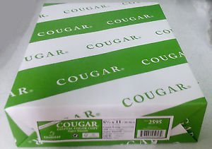 Cougar Digital White Super Smooth 100# Cover Cardstock Open Pack Option 8.5 x 11