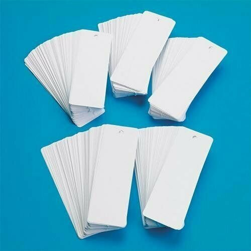 White Bookmarks Rectangle Shape Rounded Corners - Pack of 500 - 100# Card stock