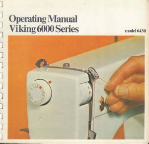 6430 Operating & Sewing Manuals in PDF format on CD